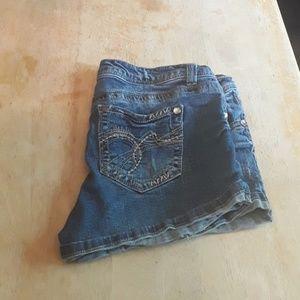 Wallflower blue jean shorts